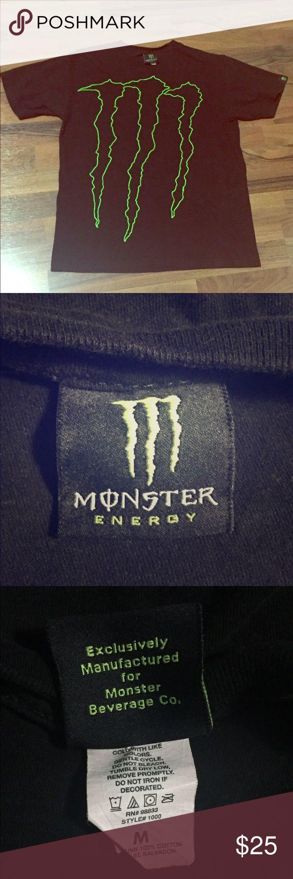 Monster Energy | Logo Tee Authentic Monster Energy Brand Ambassador Menu0027s  Medium Preshrunk 100% Cotton
