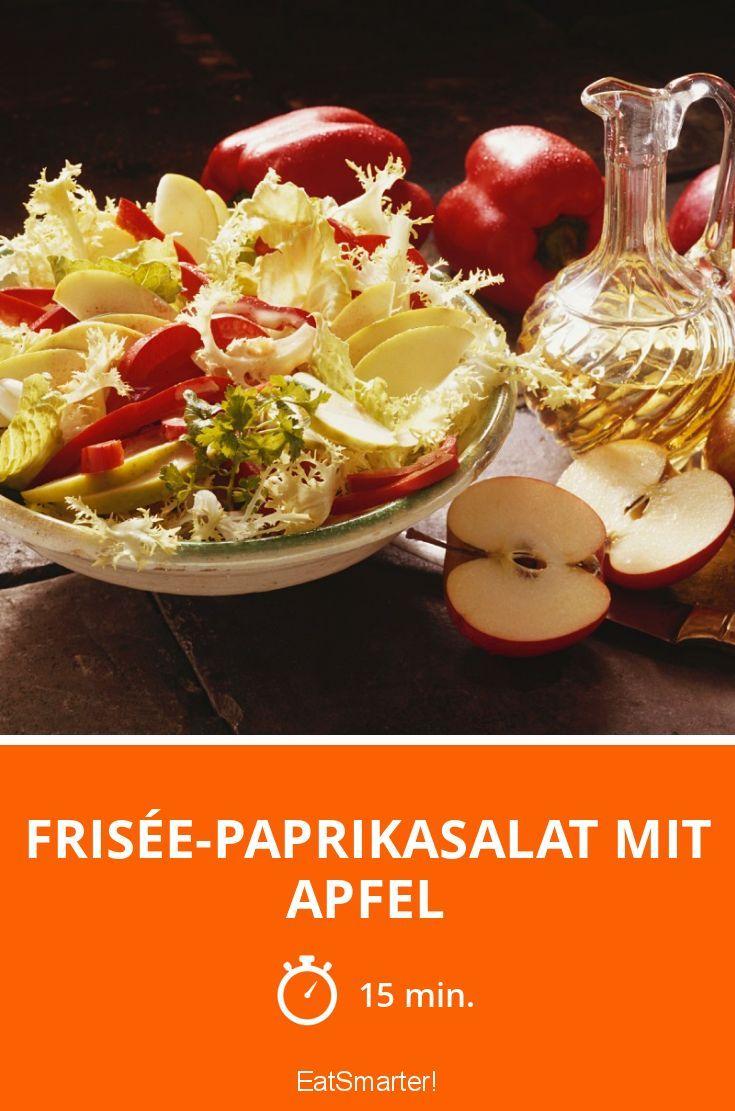 Frisée-Paprikasalat mit Apfel