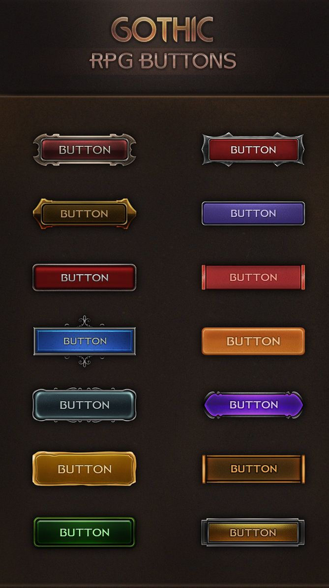 Gothic RPG Buttons 2.0 by VengeanceMK1 on DeviantArt