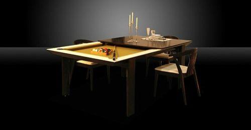 Lustige Einrichtungsideen - Billardtisch für kleine Räume geeignet  - #Möbel