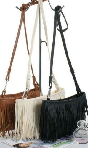 Bohemian Small Fringe Tassel Shoulder Cross-Body Clutch Fashion Ladies Bag