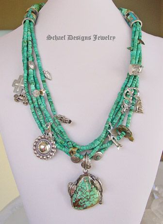 Turquoise Charm Necklace | Schaef Designs | New Mexico