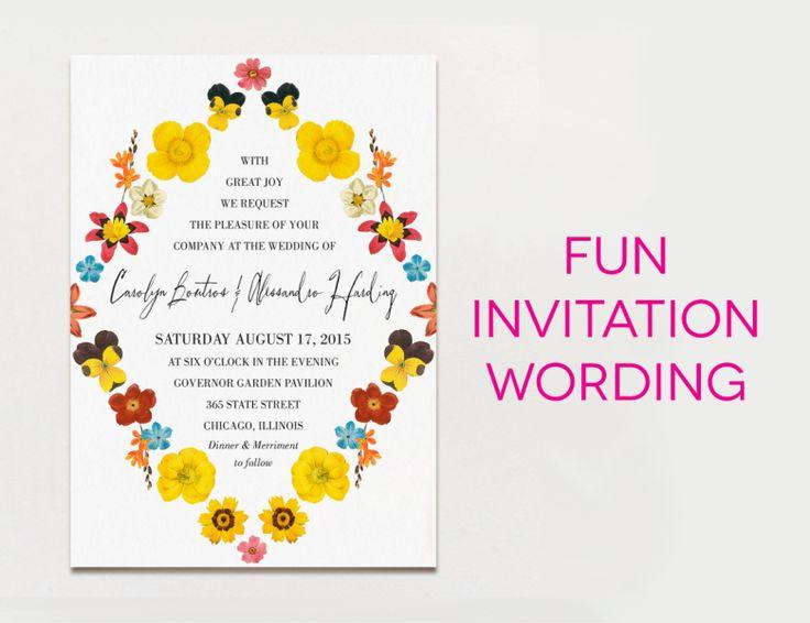 Modern Wording For Wedding Invitations: 17 Best Ideas About Modern Wedding Invitation Wording On
