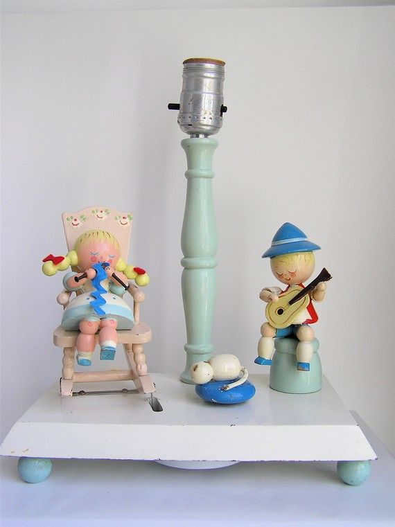 Vintage Irmi Nursery Animated Musical Lamp Rocking Chair Flea Market Finds Collectables Pinterest And