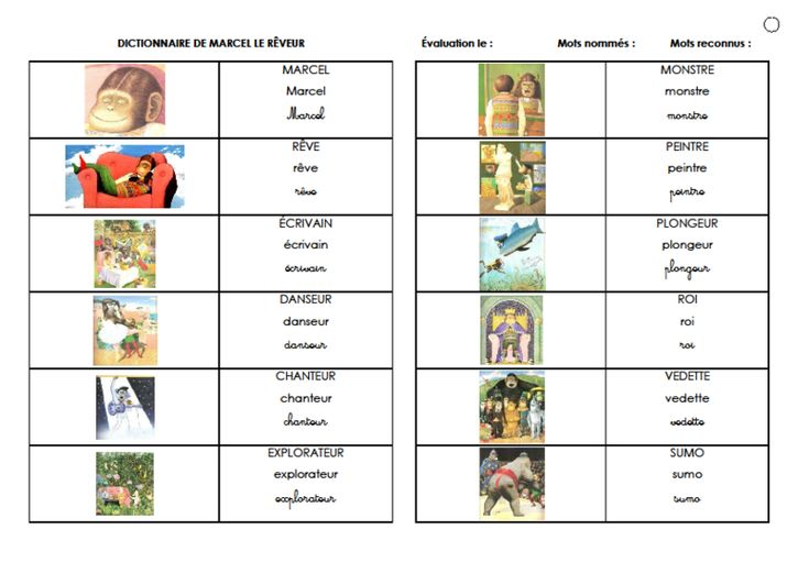 EXERCICES: Marcel le rêveur, Anthony Browne