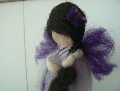'Fairy Lavender' Needle felted fairy decoration