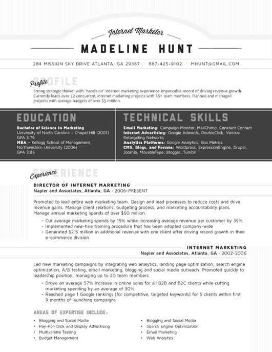 52 best images about contemporary resumes on pinterest