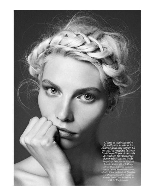 : Milkmaid Braid, Hairstyles, Vogueparis, Vogue Paris, Beautiful, Aline Weber, Braids Crowns, Hair Style, Crowns Braids