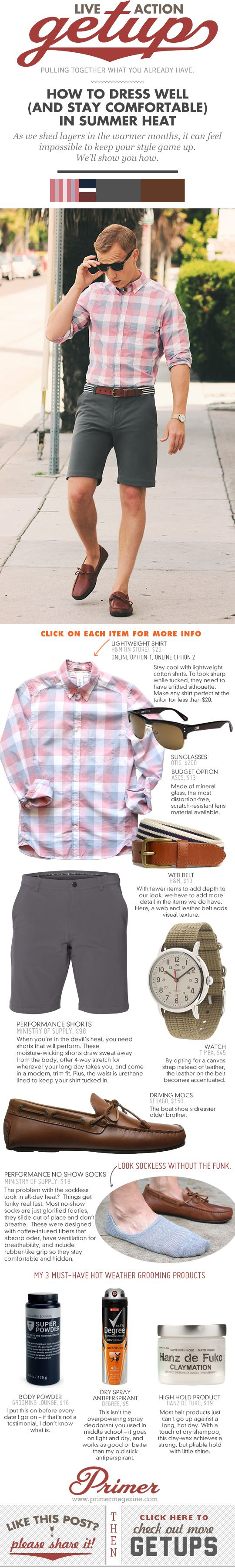 Live-Action Getup: How to Dress Well (and Stay Comfortable) in Summer Heat - Primer