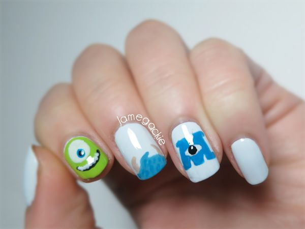 Monsters University Nails | Jamegackie