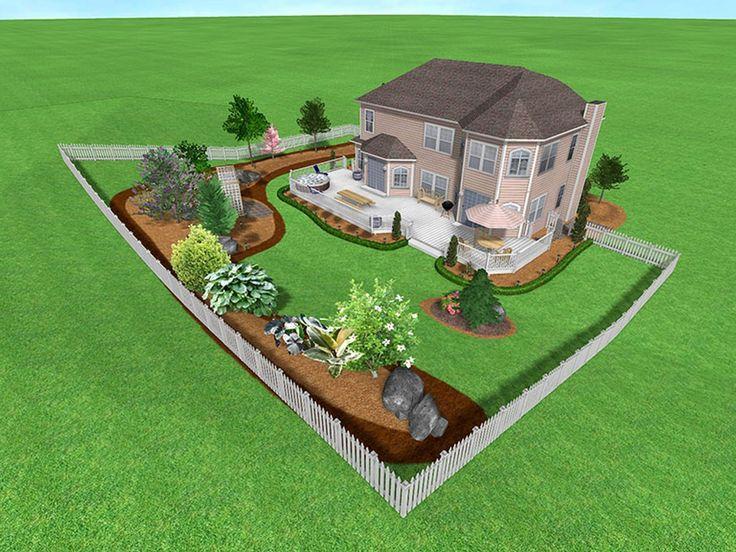 Paisaje Diseño precioso famosos Landscape Design Ideas inclinado Backyard inclinadas Backyard Landscaping Ideas Oficina paisajismo ideas patio trasero con adorables Diy Landscaping Ideas Privacidad Living Cercos Deco