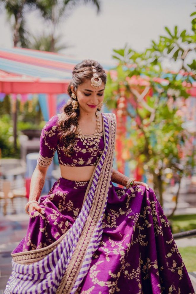 20 Real Brides Who Wore Anything But Green & Yellow On Their Mehendi!