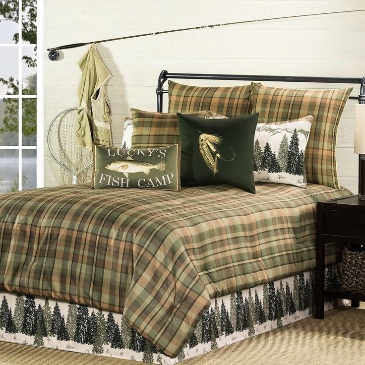 Fishing Cabin Comforter Sets Bedding Luxury Bedding
