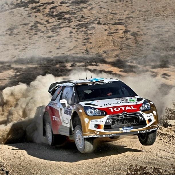 Eat my dust! Mikko Hirvonen at the wheel.