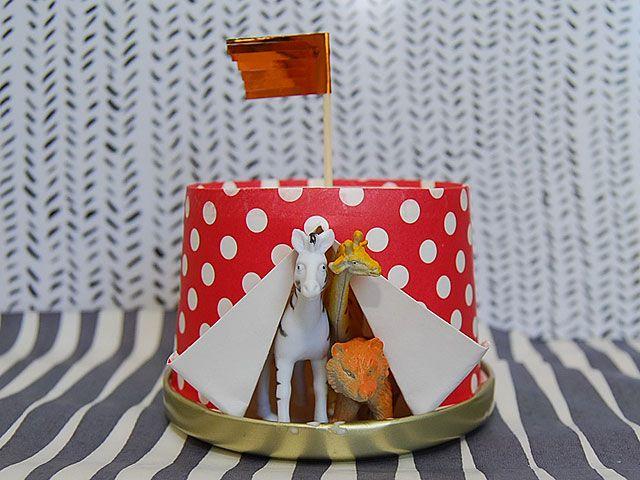 DIY- Eläimet sirkusteltassa kakkukoriste - Humua -kaikkien juhlien ideapankki