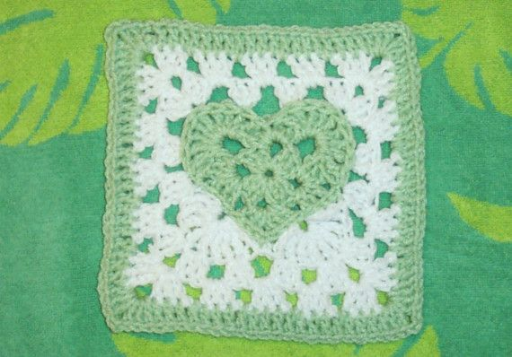 Fox's 7 x 7 Heart of a Granny Square pattern by SmoothFox on Etsy