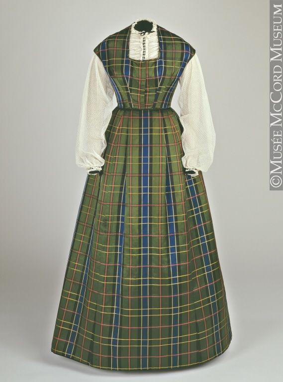 Robe 1860, 19e siècle Don de Mrs. Hugh Phillips M974.15.1-4 © Musée McCord