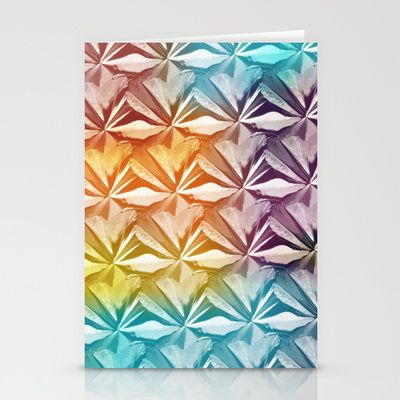 PYRAMID PATTERN Stationery Cards by hardkitty - $12.00
