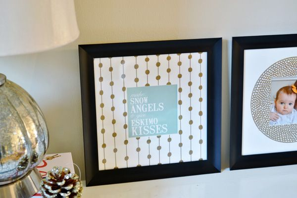 Sharpie-embellished photo mats + a great deal on Sharpies at Staples - burlap and blue
