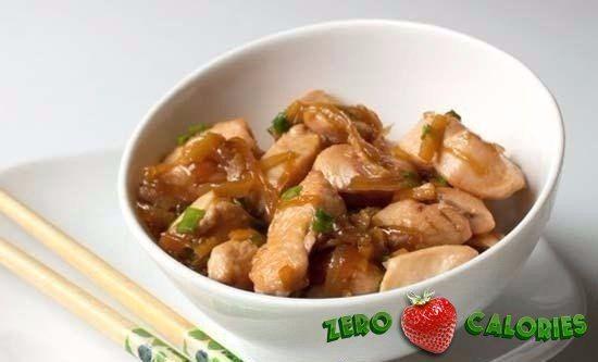 Куриное филе с имбирем и чесноком по-китайски на 100грамм - 105.79 ккал, Б/Ж/У - 18.22/0.95/4.9