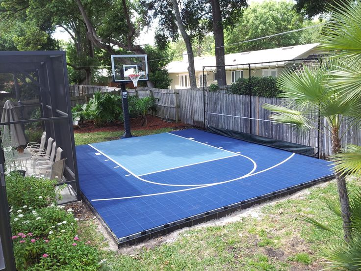 125 best images about sport court on pinterest backyard for Diy sport court