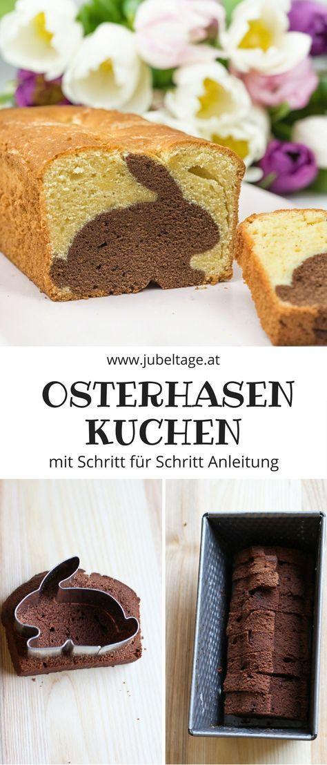 Einen leckeren Osterhasenkuchen in Hasenform selber backen mit Rezept und Anleitung perfekt für ein Frühstück zu Ostern