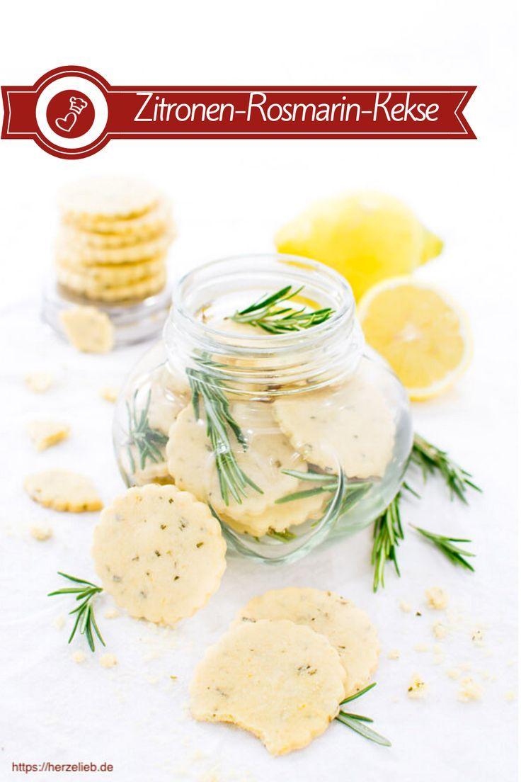 Zitronen Plätzchen mit Rosmarin- Rezept für den Sommer