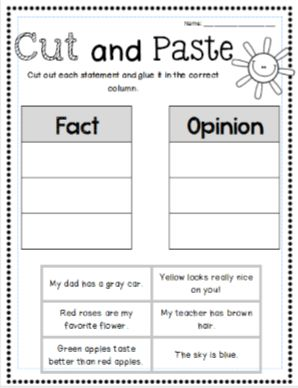 Worksheets Fact Vs Opinion Worksheets 128 best images about fact opinion on pinterest facts and worksheets graphic organizers bookmarks more factandopinion