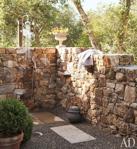 outdoor shower, gartendusche