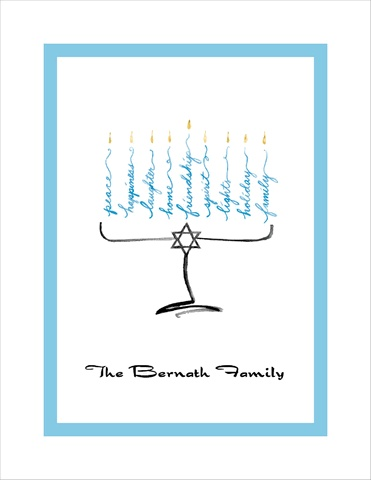 Hanukkah Candles Folded Thank You Cards by Bonnie Marcus & Co. - Invitation Box