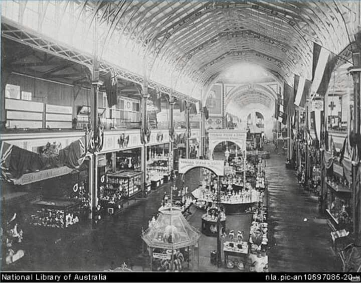 Interior shot of the Garden Palace in Sydney in 1880.Photo from National Library of Australia.A♥W