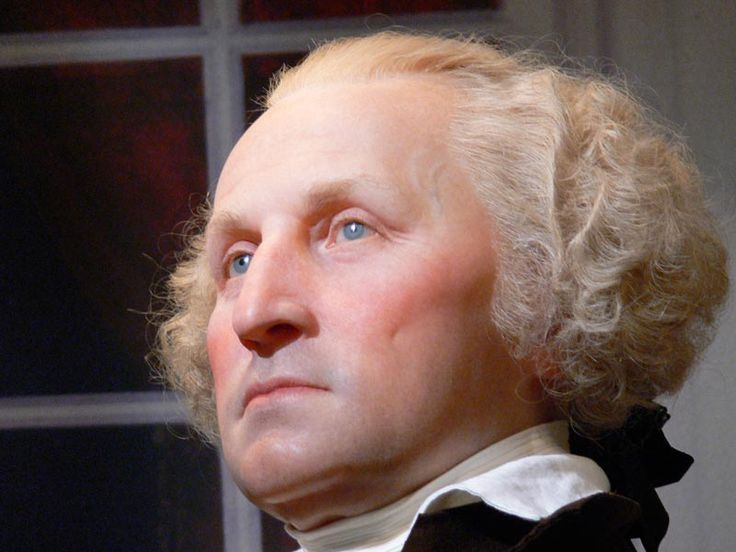 Forensic reconstruction of President George Washington, age 57 -looking rather humourless, I have to say