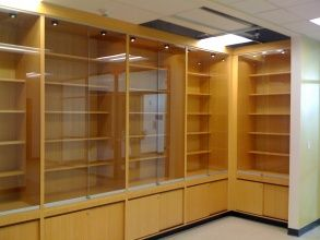 Long Beach Trophy case with built in lighting