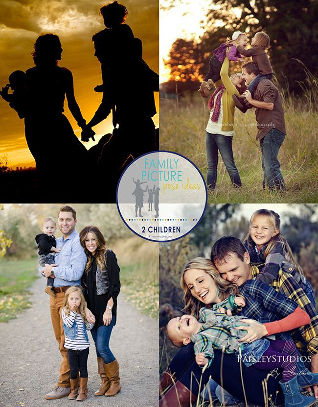 12 Great Family Picture Pose Ideas with 2 Children on Capturing-Joy.com!