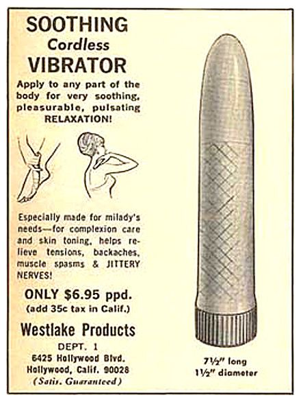Although its' shape is definitely phallic, manufacturers still try to promote it as a massage device…