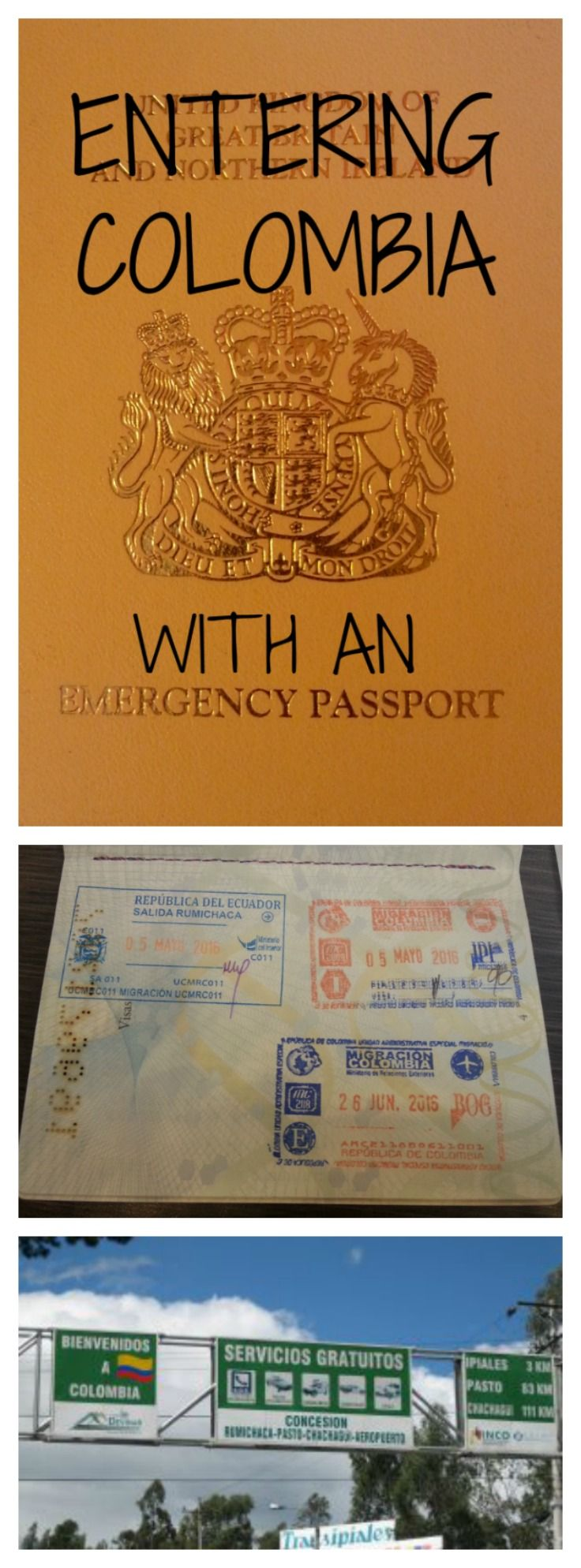 Having your passport stolen is not a nice experience - and then having to travel with an emergency passport is scary too!  Here's how I entered Colombia with an emergency passport