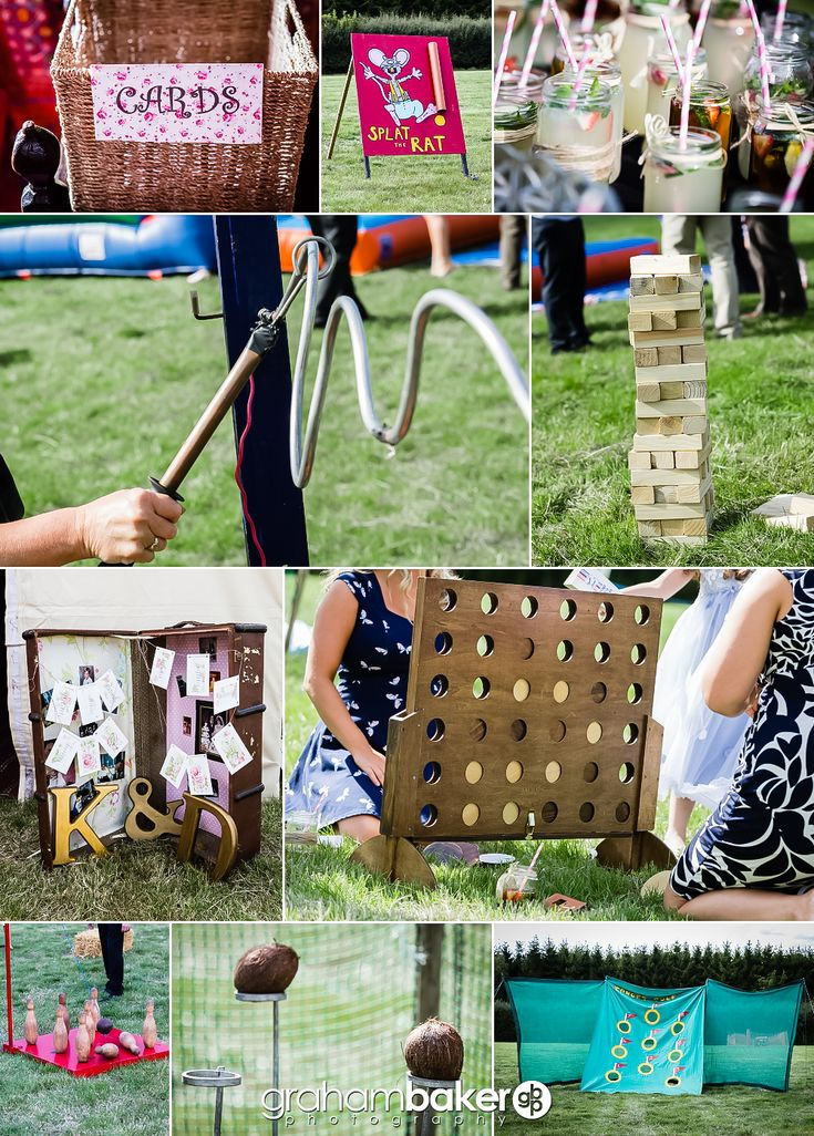 Cool wedding Reception Wedding games and entertainment ideas!  Photography Ideas and Inspiration for a Traditional English Summer Fete styled Wedding.   London based Wedding Photographer Graham Baker Photography http://grahambakerphotography.com/services/weddings/
