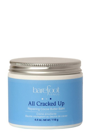 Mend damage and soften worthy feet with repairing cocoa butter, ground cloves and refreshing peppermint oil.