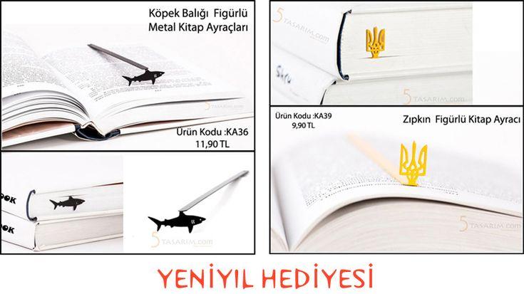 köpekbalığı figürlü ilginç yeniyıl hediyesi kitap ayracı modelleri