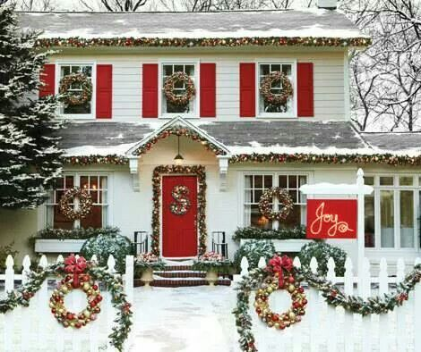 1011 best christmas primitive colonial country - Christmas decorating exterior house ...