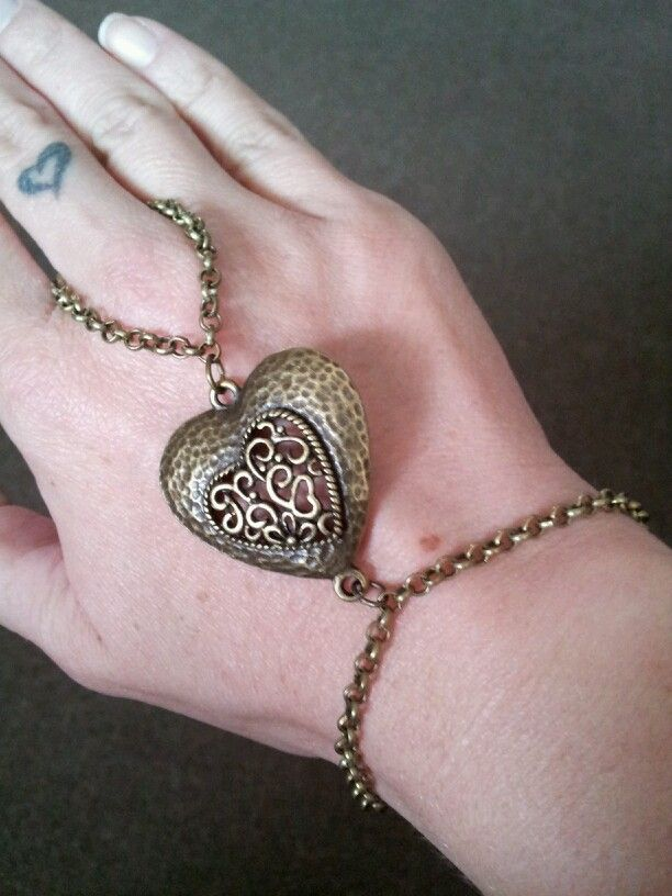 Bronze Heart Slave Bracelet - $12 (Link available soon)