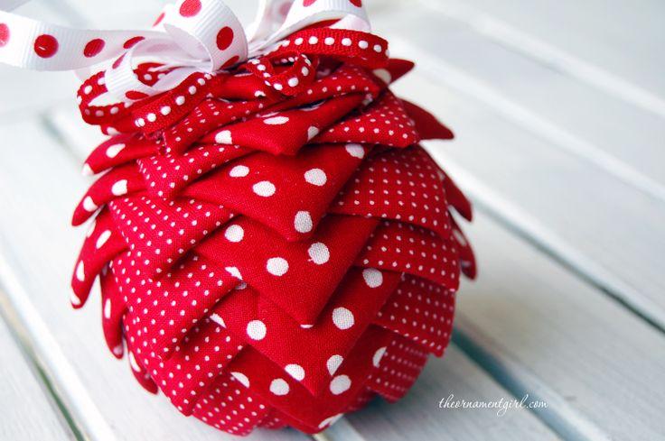 Folded Ribbon Ornament Pattern   ... , Christmas ornament craft kits, ornament tutorials and patterns