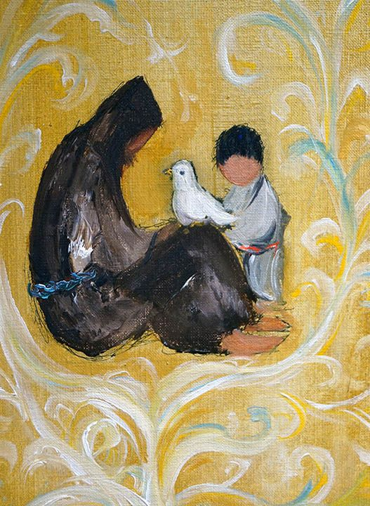 """""""The Lord Gave Me Brothers"""" Saint Francis of Assisi.  These paintings were done in 1966 for a book on Saint Francis. DeGrazia"""