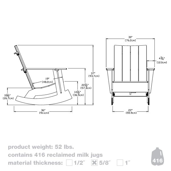 Loll Designs Adirondack Chair : ... adirondack rocker - Modern Recycled Outdoor Furniture by Loll Designs