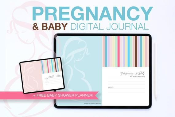 PREGNANCY AND BABY JOURNAL 62 Pages / Diary Diary Tracking Diary / GoodNotes 5 / …   – Products