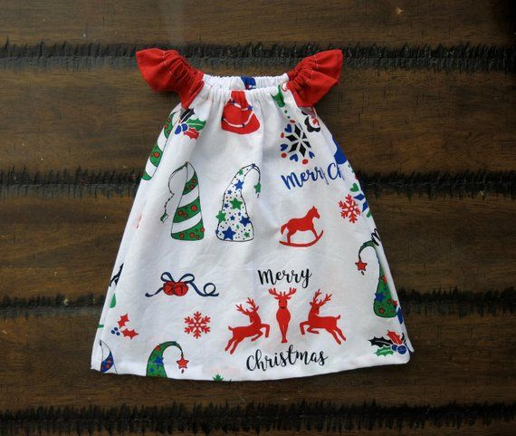 Baby girl Christmas clothes / baby girl clothes / Xmas baby dress