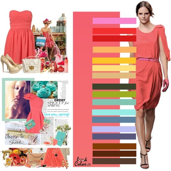 coral: color combinations
