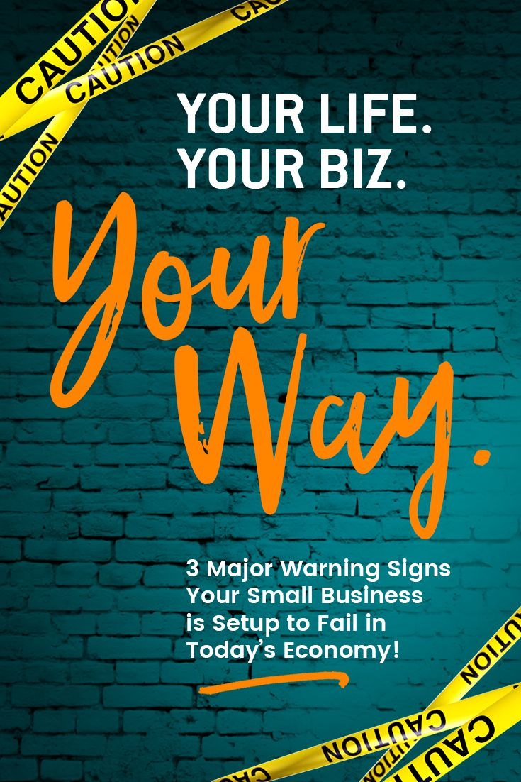 Your Life. Your Biz. Your Way. 3 Major Warning Signs Your Small Business is Setup to Fail in Today's Economy! Join Isabelle, brand strategist, best-selling author, TV show host and business performance catalyst at LeapZone Strategies for this free branding training!