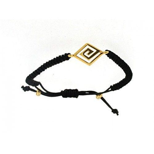 Spiral golden silver makrame bracelet greek by ThetisTreasures
