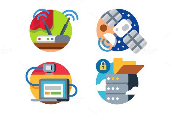 Internet technology icon set  CreativeWork247 – Fonts, Graphics, Themes, Templates